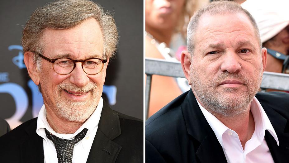 Steven Spielberg and  Harvey Weinstein Split - Getty -  H 2016