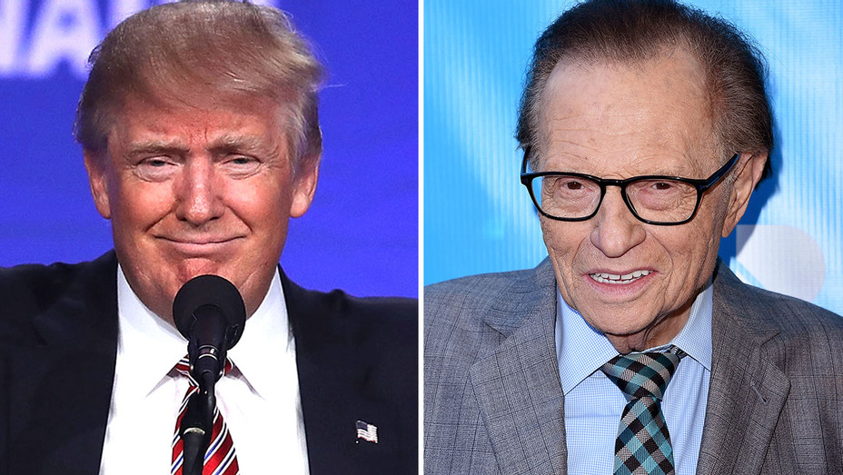 Trump and Larry King split-Getty-H 2016