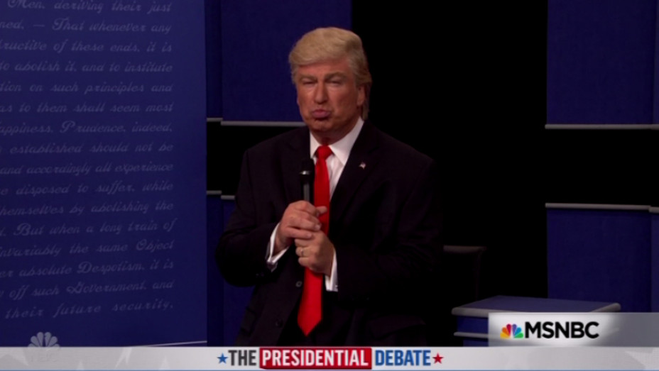 Alec Baldwin as Donald Trump on SNL Oct 15 - H 2016
