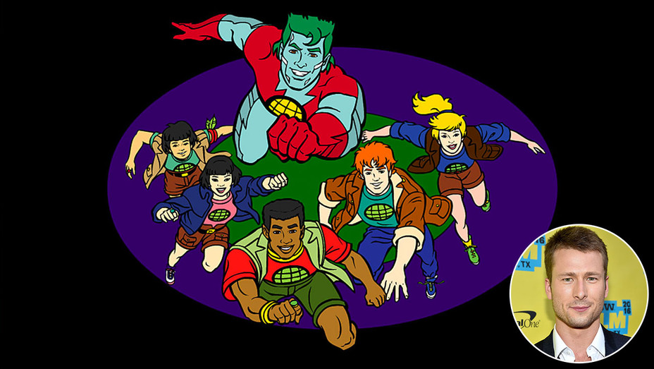 Captain Planet and the Planeteers and inset of  Glen Powell-H 2016