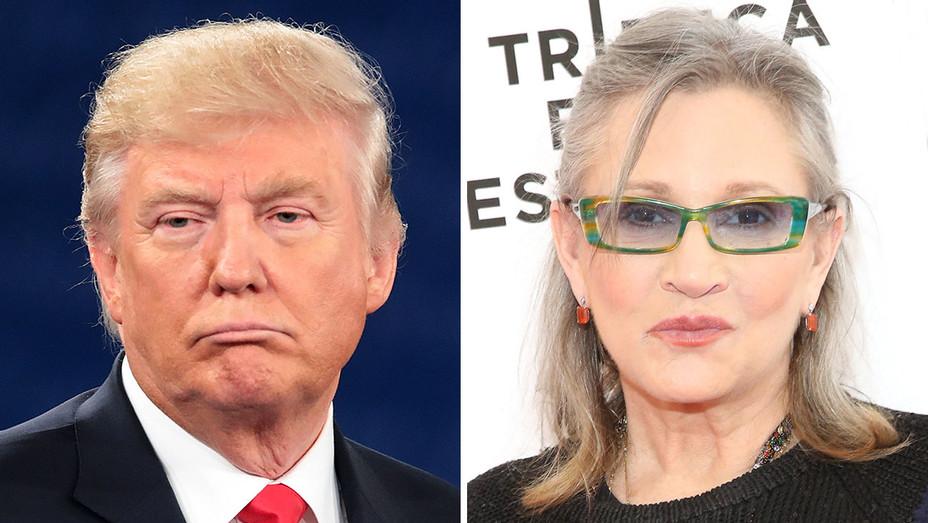 Donald Trump - Carrie Fisher  - Split- H - 2016