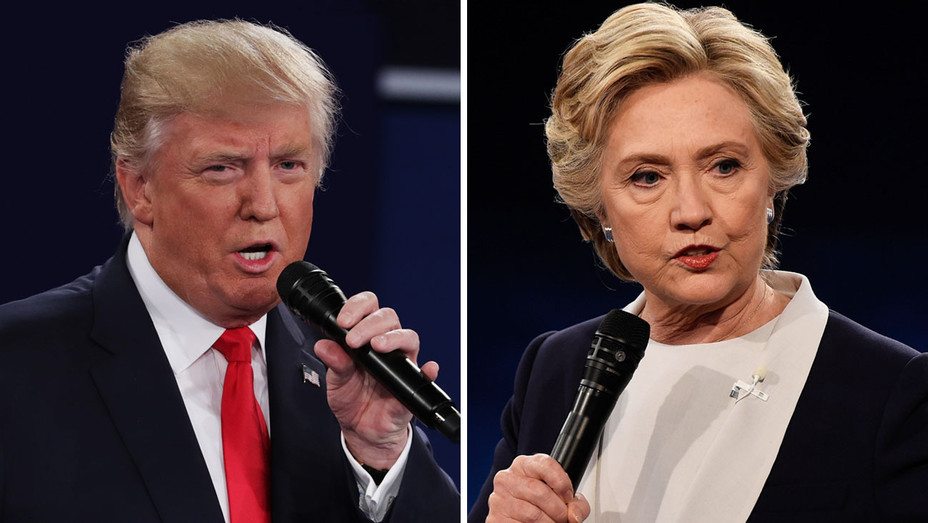 Donald Trump - Hillary Clinton 1 -  Second Presidential Debate - Split - H - 2016