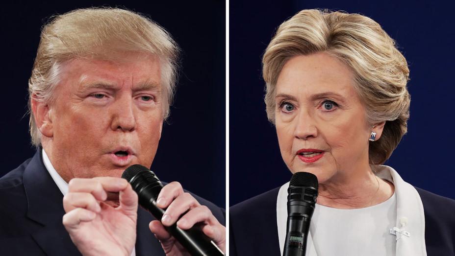 Donald Trump - Hillary Clinton 2 -  Second Presidential Debate - Split - H - 2016