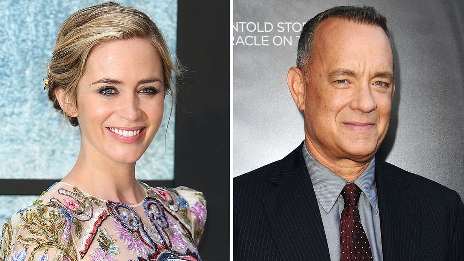 Emily Blunt and Tom Hanks aplit - Getty-H 2016