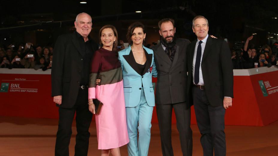 Juliette Binoche, Ralph Fiennes, Kristin Scott Thomas at Rome Film Fest - Getty - H 2016