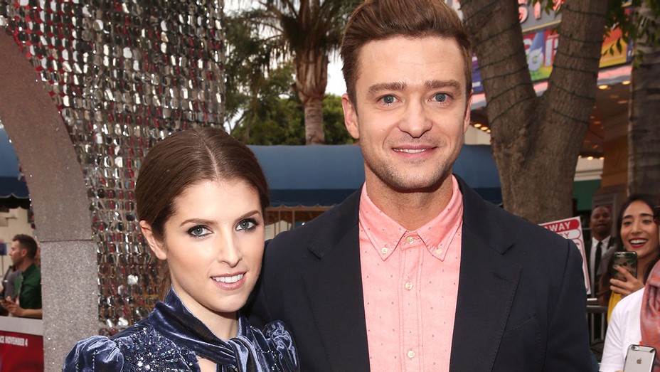 Anna Kendrick and Justin Timberlake - Premiere of Trolls - Getty -  H 2016