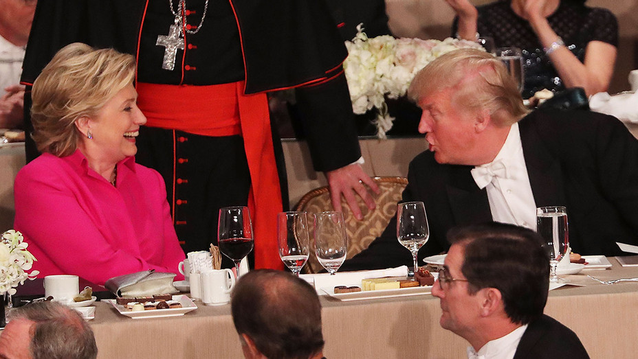 Hillary Clinton_Donald Trump_Alfred Smith Dinner - Getty - H 2016