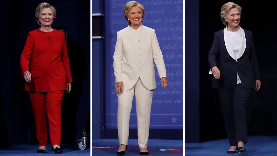 Hillary Clinton pantsuit - red white blue - Split - H - 2016