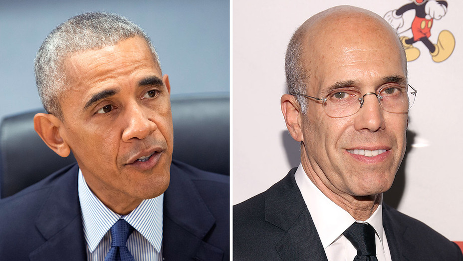 Obama and Jeffrey Katzenberg Split - Getty - H 2016