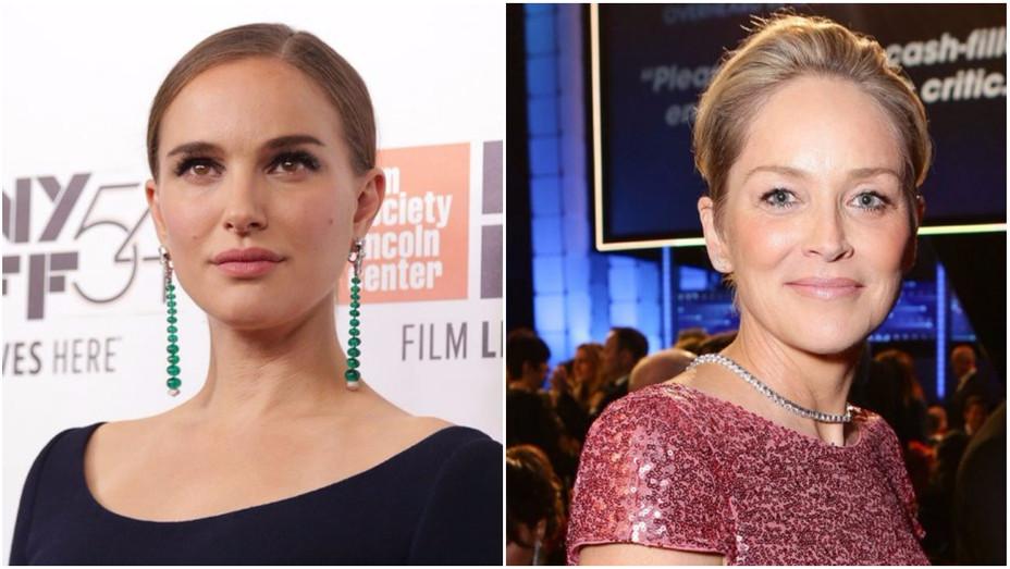 Natalie Portman Sharon Stone Split - Getty - H 2016