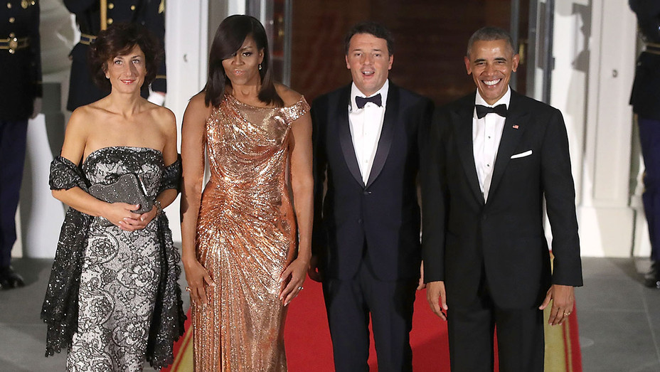 President And Mrs. Obama Host State Dinner For Italian PM Renzi - H - 2016