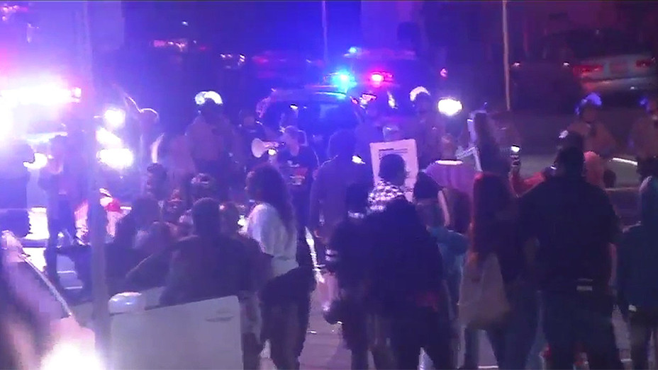 Citywide tactical alert issued as protests erupt in South LA -ABC- Screen shot - H 2016