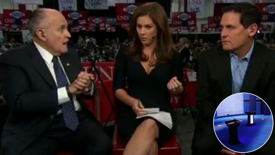 Rudy Giuliani Mark Cuban - Pre Debate Inset - H - 2016
