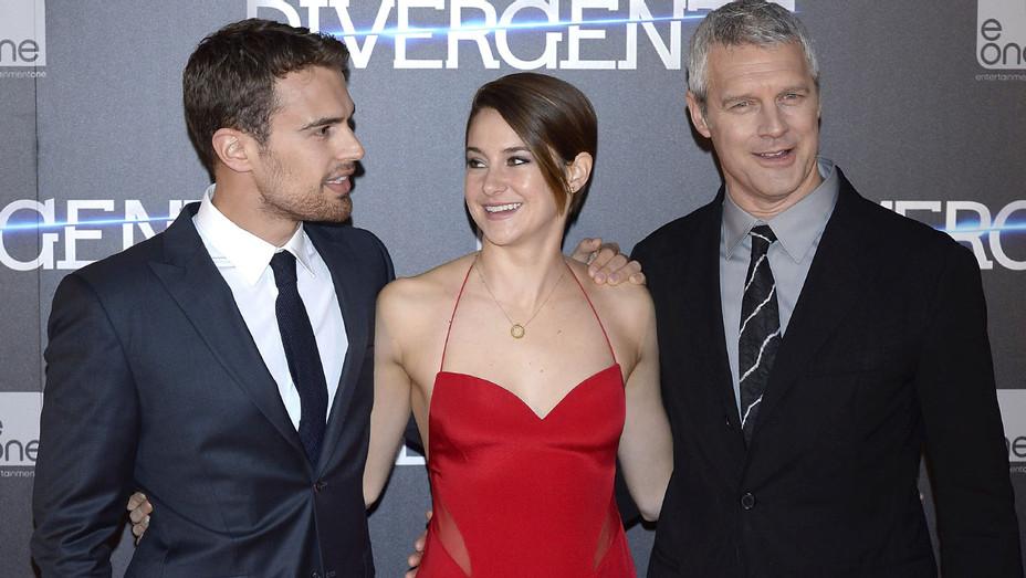 Theo James Shailene Woodley Neil Burger - Divergent Madrid Premiere