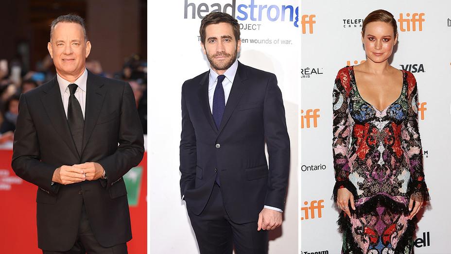 tom hanks, jake gyllenhaal and brie larson_Split - Getty - H 2016