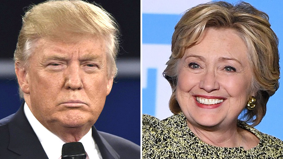 Trump Tapes -Donald Trump and Hillary Clinton split -Getty-H 2016