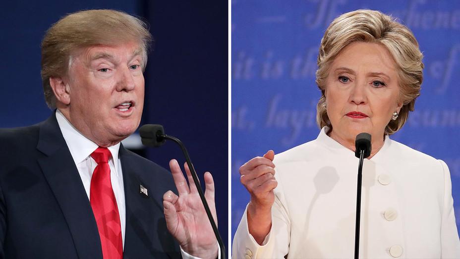 Trump_Clinton Onstage 3rd Debate_Split_3 - Getty - H 2016