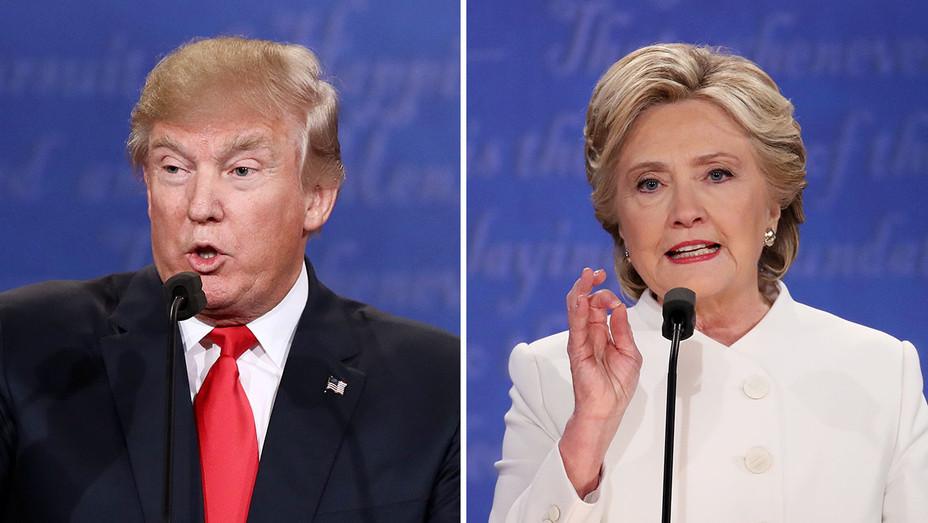 Trump_Clinton Onstage 3rd Debate_Split_4 - Getty - H 2016