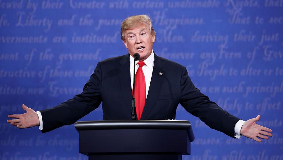 Trump Onstage 3rd Debate 4 - Getty - H 2016