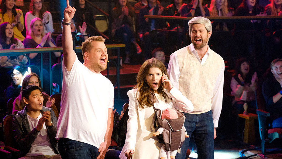 Anna Kendrick and Billy Eichner performs with James Corden- The Late Late Show-Publicity-H 2016