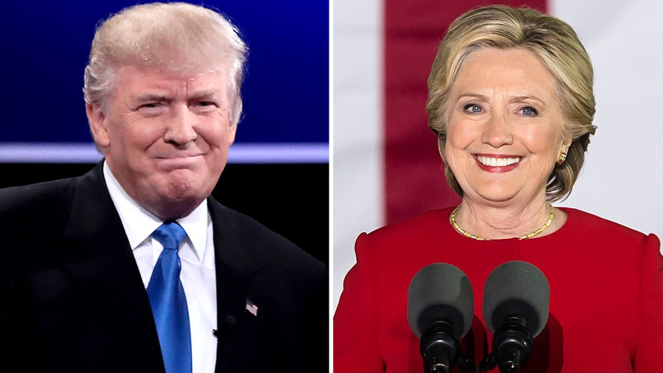 donald trump and hillary clinton split-H 2016