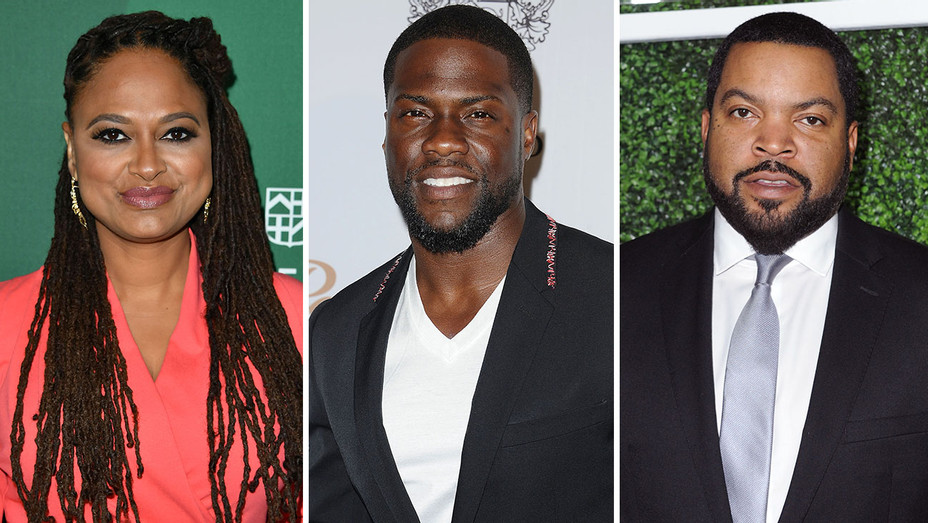 Ava DuVernay, Kevin Hart and Ice Cube_Split - Getty - H 2016