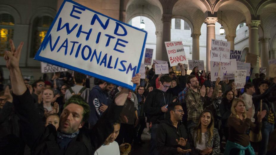 Bannon protest LA Getty 2016 - H