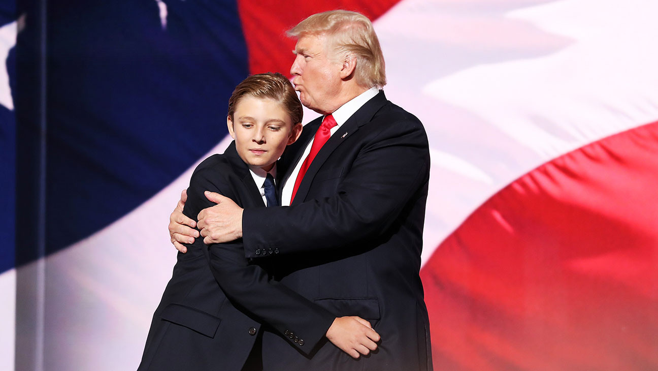 Donald Trump Roblox Shirt Barron Trump Is Headed To Washington This Summer Hollywood Reporter