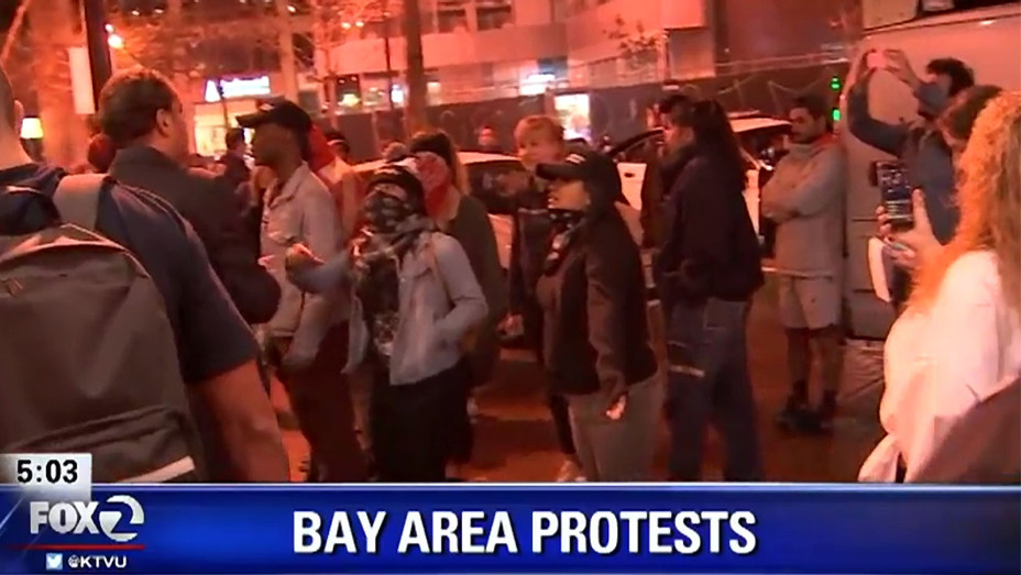 Bay Area Protests going on in Oakland -Screen Shot- H 2016