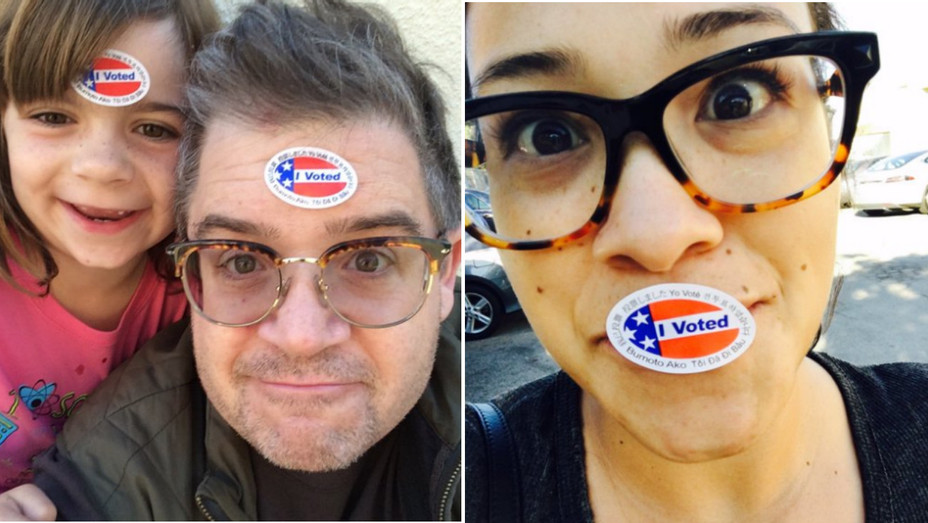 Celebs voting Election Day - H