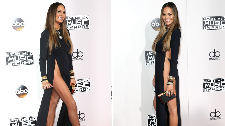 Chrissy Teigen Split - AMAs - Getty - H - 2016