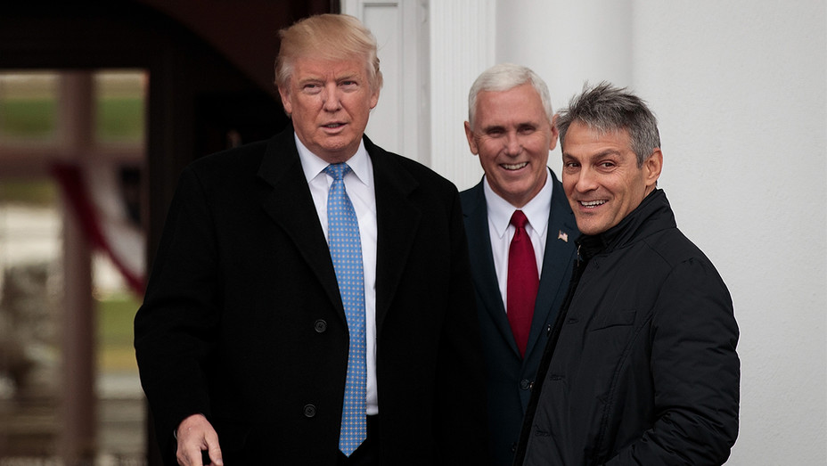 Donald Trump Ari Emanuel Mike Pence Getty H 2016