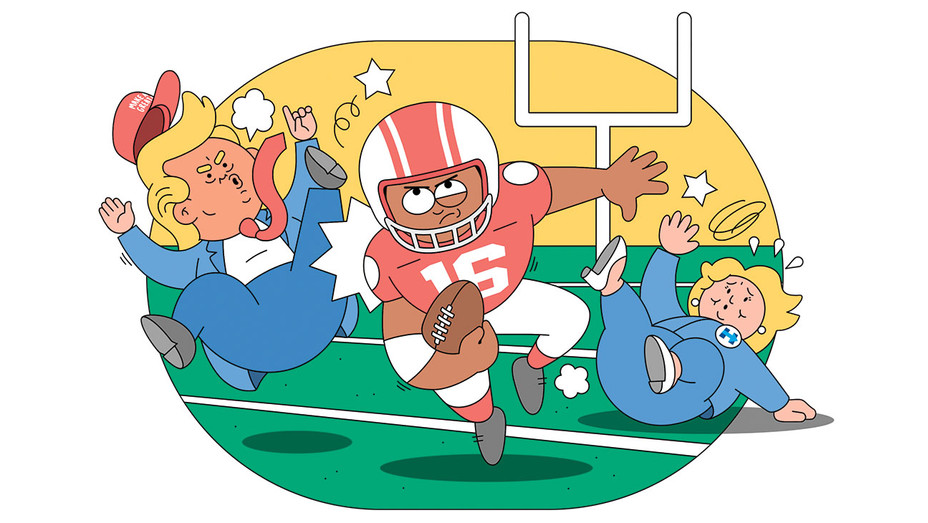 NFL Ratings Woes: Execs Hoping for Rebound Post-Election - illo -H 2016
