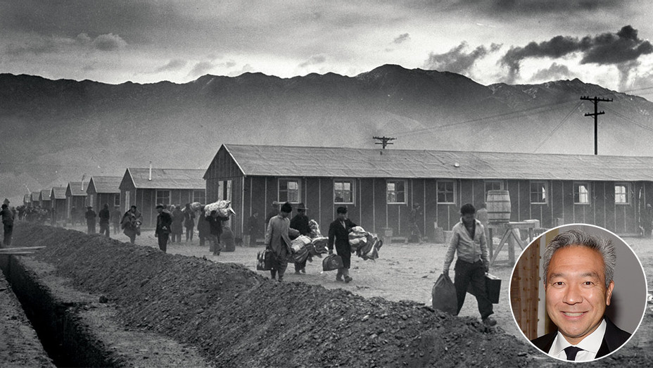 First Arrivals At The Manzanar War Relocation Center_Kevin Tsujihara Inset - Getty - H 2016