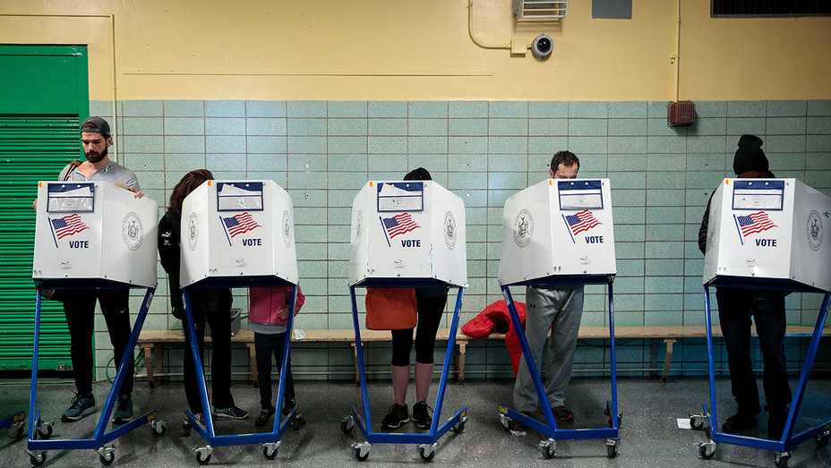 Election Day-NOVEMBER 8 -People vote at a polling site - Getty-H 2016