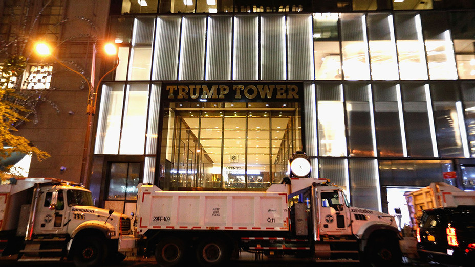Trump Tower on Election Day on November 8, 2016- Getty-H 2016
