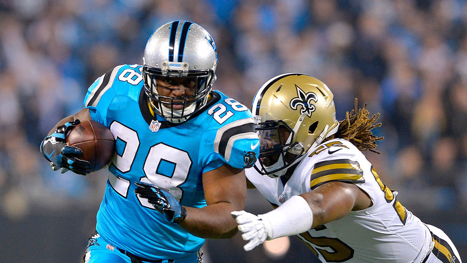 Carolina Panthers runs the ball against  the New Orleans Saints- Getty-H 2016