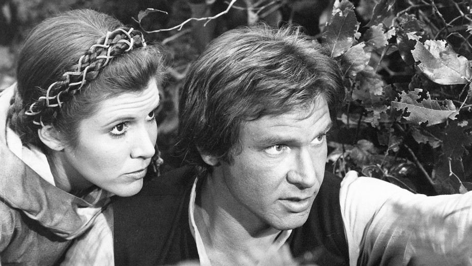 Harrison Ford and Carrie Fisher - Return of the Jedi - Photofest - H - 2016