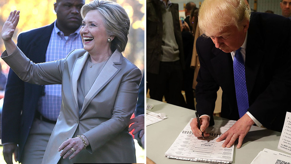 Hillary Clinton and Donald Trump voting -Election Day-Getty-Split-H 2016