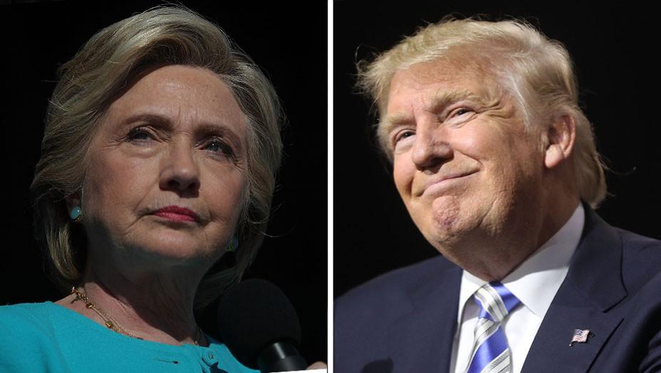 Hillary Clinton - Donald Trump - Split - H - 2016