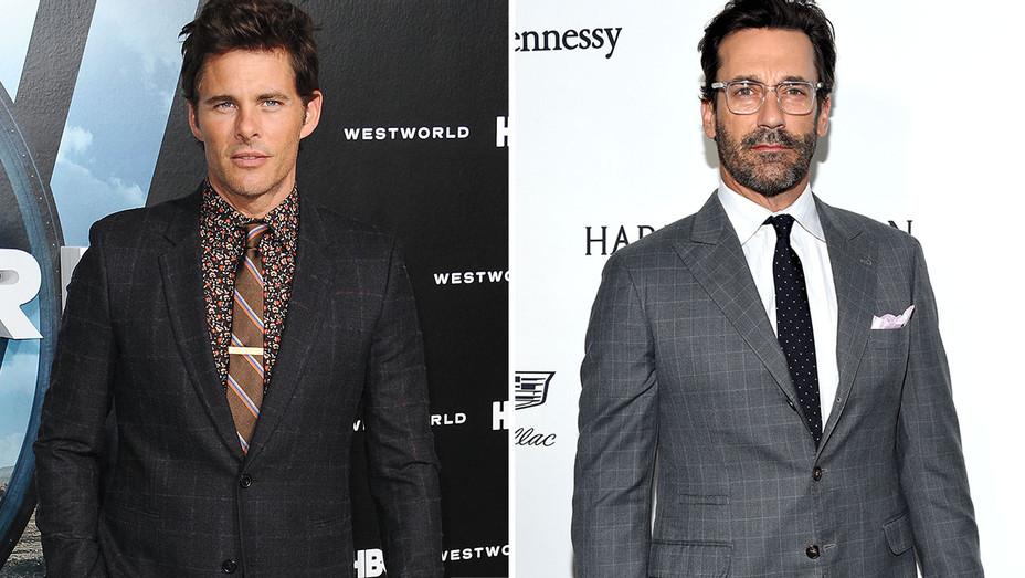 Hollywood Squares -Suits split-James Marsden and Jon Hamm - H 2016