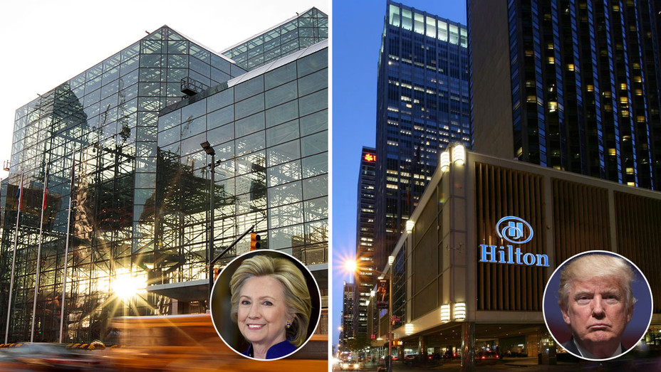 jacob k. javits convention center - Hillary - Hilton - Trump - 2016