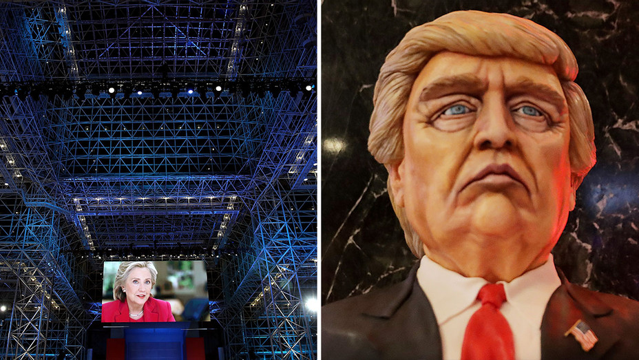 Javits Center Glass Ceiling_Trump Cake Split - Getty - H 2016