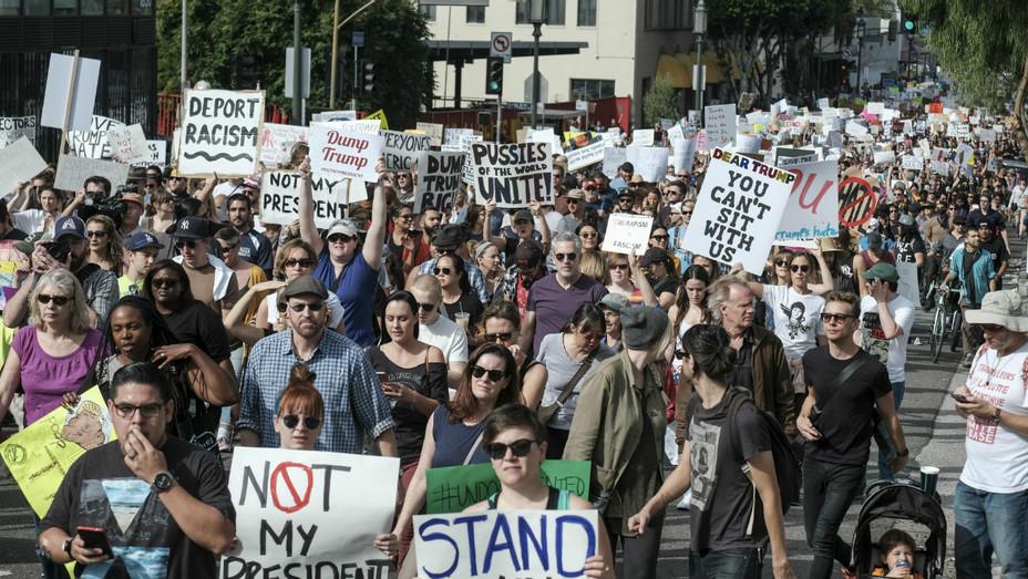 LA Trump protest Nov 12 - H