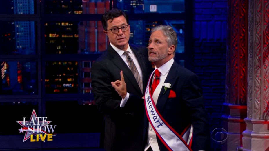 Late Show Pre-Election Jon Stewart Screengrab - H 2016