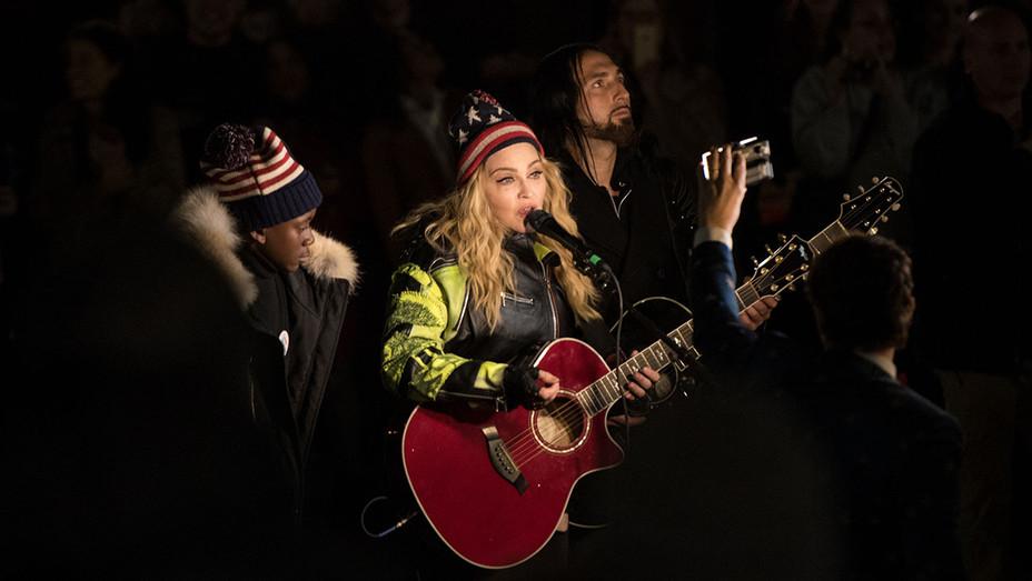 Madonna_Clinton Event - Getty - H 2016