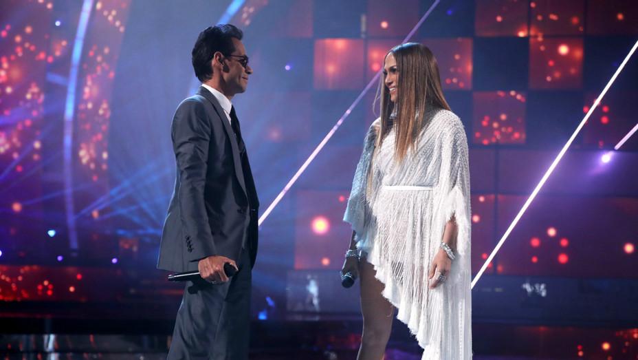Marc Anthony, Jennifer Lopez at the Latin Grammy Awards - Getty - H 2016