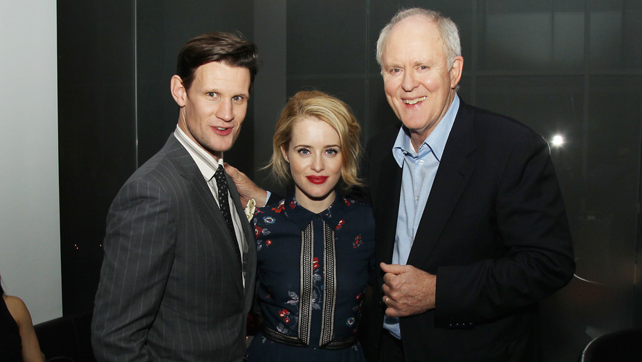 Matt Smith, Claire Foy and John Lithgow at 'The Crown' Special Screening - H Starpix 2016