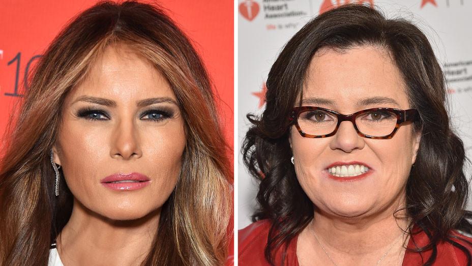 Melania Trump and Rosie O'Donnel - Split - H - 2016