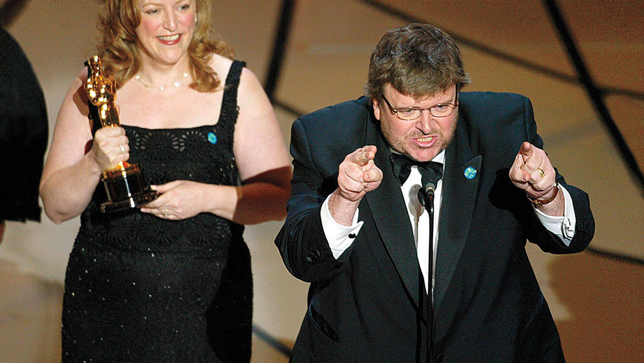 Michael Moore_Oscars ONE TIME USE - Getty - H 2016